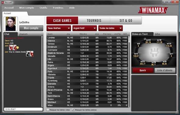 logiciel winamax poker : choisissez votre partie