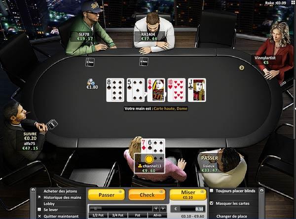 jeu de poker sur le site bwin